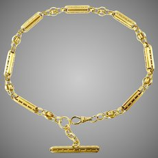 Fancy Link 14 karat Gold Victorian Watch Chain