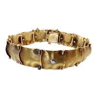 Rare A.J. Hedges Gold Handkerchief Bracelet