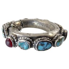 Najd Silver and Turquoise Bracelet from Saudi Arabia