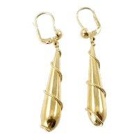 14 Karat Gold Torpedo Earrings
