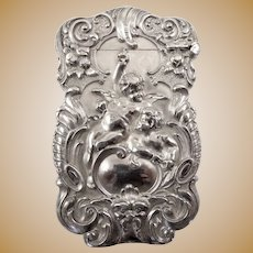 Antique Kerr Match Safe with Cherubs