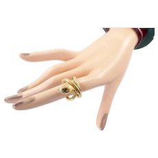 Sofia Kaman Snake Ring in 14 Karat Gold with Diamonds