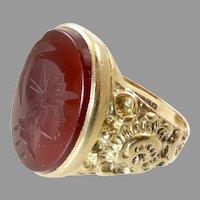 Victorian Gold Intaglio Signet Ring