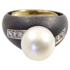 Marsh and Co. Diamond and Pearl Bombe Ring