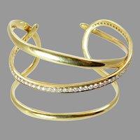 Tiffany 18 Karat Gold and Diamond Bracelet Designed by Angela Cummings