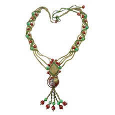 Barbara Natoli Witt Necklace with Cloisonne Bead