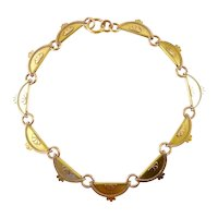 Victorian 14 Karat Gold Collar Necklace