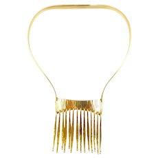 Bent Gabrielsen 14 Karat Gold Modernist Necklace