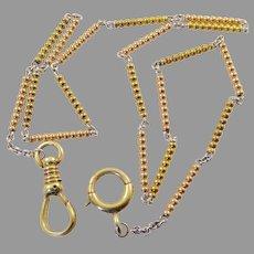 Antique Watch Chain in 14 Karat Gold and Platinum