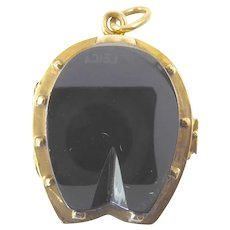 Victorian Gold Horseshoe Locket