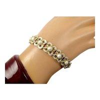 White Enamel Bracelet by Willy Winnaess for David-Andersen