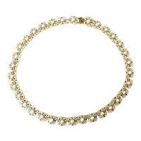 David-Andersen White Enamel Necklace Designed by Willy Winnaess