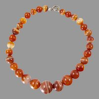 Banded Carnelian Agate Beads