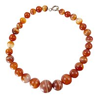 Banded Carnelian Agate Beads