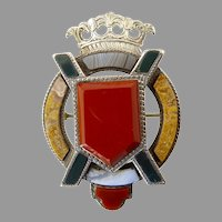 Victorian Scottish Agate Brooch in the Form of Saint Andrew's Cross