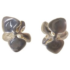 Angela Cummings Sterling Silver Orchid Earrings