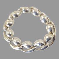 Charles Krypell Sculptural Silver Bracelet