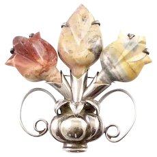 Large Spratling Flower Brooch