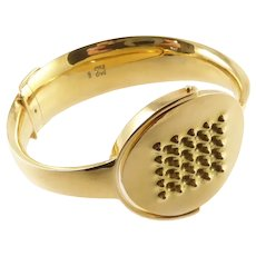 Modernist 18 Karat Gold Bracelet