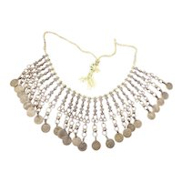 Vintage Silver Coin Necklace from Afghanistan or Pakistan