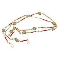 Theodor Fahrner Art Deco Enamel Necklace