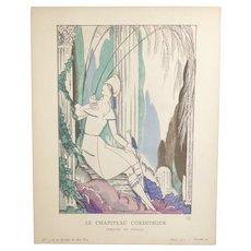 Gazette du Bon Ton Pochoir Le Chapiteau Corinthien by Robert Bonfils