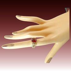 Victorian 14 Karat Gold Garnet Ring