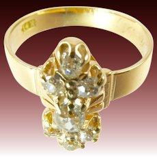 Victorian Diamond Ring 14 Karat Gold .8 Carat Diamonds