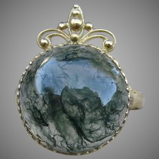 Rich Victorian Agate 18k & 10k Ring