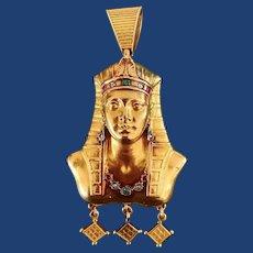 Antique Gemstone Cleopatra Locket 18k