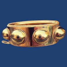 Antique Orb Wide Bracelet 18k