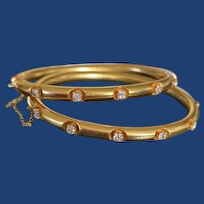 Antique Diamond Bangles 14k