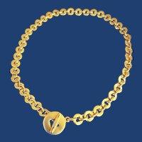 Retro '90s Pomellato Disc Toggle Necklace 18k