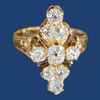 Victorian Diamond Ring 18k