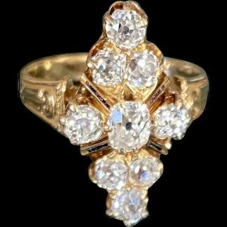 Victorian Diamond Ring 18k