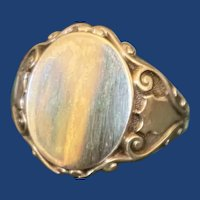 Antique Shield Signet Ring 10k