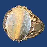 Antique Shield Signet Ring 10k