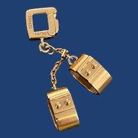 Retro Louis Vuitton Handcuff Charm 18k