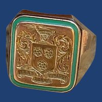 Rare Tiffany Westover School Crest Signet Ring 14k
