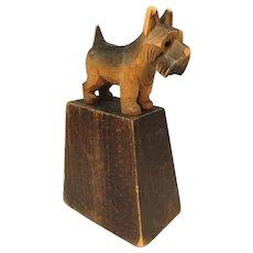 Folk Art Scotty Dog Paperweight Scottish Terrier c1920