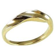 14k Gold Kabana Ribbon Ring Vintage Designer