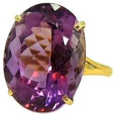 Exquisite Amethyst Ring 14k Huge 14 carat stone