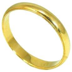 14k Men's Wedding Band Gold Men's Ring Vintage