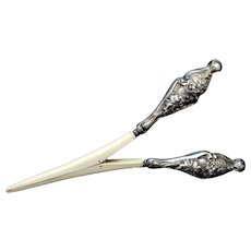 Art Nouveau Silver Glove Stretcher Sterling Handle Fancy