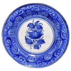 19th Century Tin Glaze Earthenware Blue and White Charger European