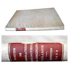 Rare Book 1489 Boetius De consolatione philosophica, De disciplina scolarium, Boethius