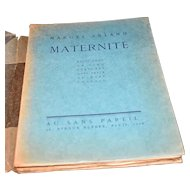 Maternite (Maternity) Marcel Arland, Marc Chagall Etchings, Numbered Rare Book