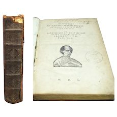 The Works of Machiavelli Historie and Discorsi c1635 Italian Printing, RARE Book