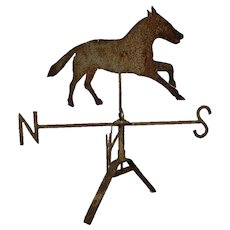 Antique Horse Weathervane Sheet Metal Folk Art 19th Century