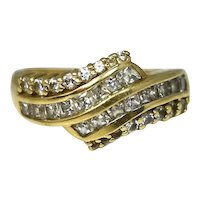 14k CZ Cocktail Ring 1 carat of Dazzling Stones in Gold